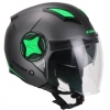 CASCO CGM OPEN FACE ILLINOIS SPORT ANTRACITE VERDE FLUO SATINATO 129X