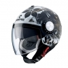 CASCO JET RIVIERA V3 FLOREAL MATT BLACK WHITE GOLD