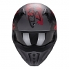 CASCO MOTO SCORPION COVERT-X WALL MATT DARK SILVER RED